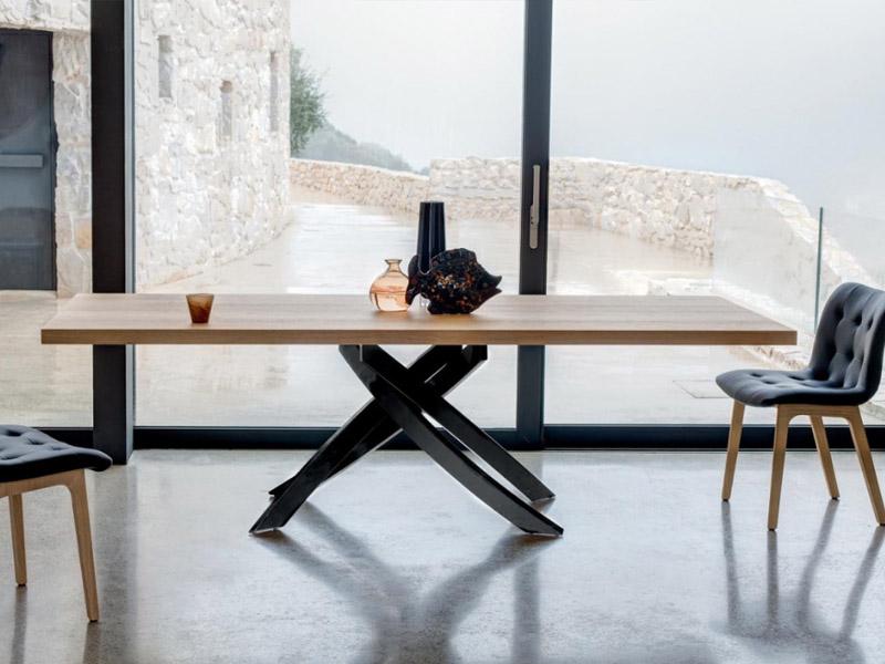 Tavolo artistico bontempi in legno massello - Tavolo e sedie moderne ...