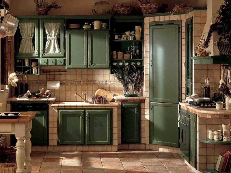 Cucina classica alice in castagno laccato e invecchiato for Piani domestici moderni