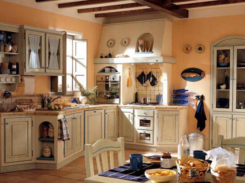 Cucina classica country toscano pennellato - Cucine stile toscano ...