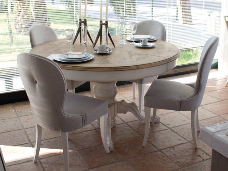 Tavolo classico rotondo allungabile top in rovere - Tavolo allungabile classico ...