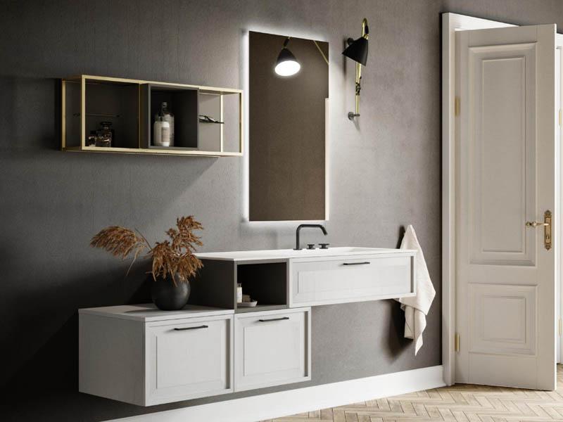 Bagno moderno composizione roma 7 punto tre - Punto tre mobili bagno ...