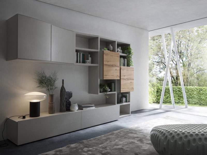 Parete attrezzata napol 500 soggiorno moderno napol for Arredamenti moderni