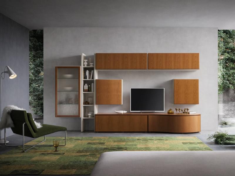Parete attrezzata napol 400 soggiorno moderno napol 400 - Parete attrezzata ciliegio ...